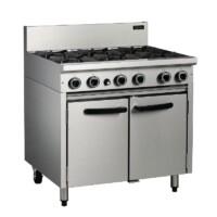 Cobra CR9D 6 Burner Cooking Range with Static Oven -0