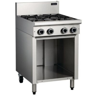 Cobra 4 Burner Cooktop with Open Cabinet C6D Commercial Catering Equipment-0