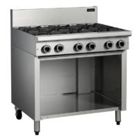 Cobra C9D 6 Burner Cooktop with Open Cabinet Base -0