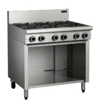 Cobra C9D 6 Burner Cooktop with Open Cabinet Base -0