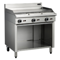 Cobra C9A 900mm Flat Griddle with Open Cabinet Base -0