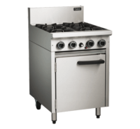Cobra 4 Burner with Static Oven CR6D Commercial Cooking Range -0