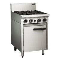 Cobra 4 Burner with Static Oven CR6D Commercial Cooking Range -0