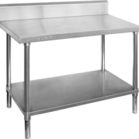 WBB7-1500 Stainless Steel Workbench with splashback-0