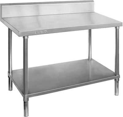 WBB7-1800 Stainless Steel Workbench with splashback-0