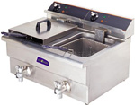 BEF-172V Elect-Max Double Benchtop Electric Fryer-0