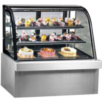 FED CG090FA-2XB Commercial Curved Chilled Food Display -0