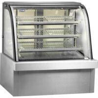 Curved Commercial Heated Food Display CG120FE-2XB-0