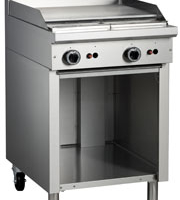 Cobra C6B 600mm Flat Griddle with Open Cabinet Base -0