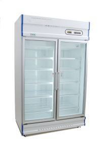 Anvil GDJ1261 Double Glass Door Upright Display Freezer - 1000L-0