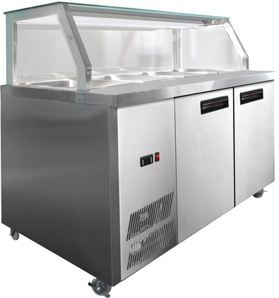F.E.D. PG210FA-Y Chilled Bain Marie Food Display-0