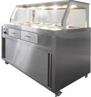 F.E.D. PG150FE-Y Heated Bain Marie Food Display-0