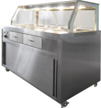 F.E.D. PG180FE-Y Heated Bain Marie Food Display-0