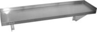WS1-0600 Stainless Steel Solid Wallshelf-0