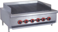 FED QR-36 6 burner Commercial Cooking Range with char grill top-0