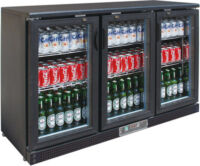 FED SC316G three door Drink Cooler-0