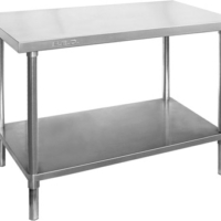 WB7-2400 Stainless Steel Workbench with Undershelf-0