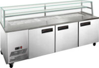 F.E.D. SCB/21 3 Door DELUXE Sandwich Bar-0