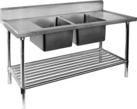 DSB7-1200 Double Stainless Steel Sink Bench-0