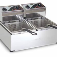 Roband F25 Double pan benchtop fryer-0