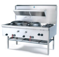 B&S UFWW-2SB2 Waterless Wok Table -2180
