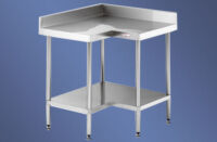 Simply Stainless SS04.0900 Corner Bench With Splashback-0