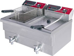 EF-S7.52 Elect-Max Double Benchtop Electric Fryer-0
