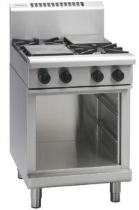 Waldorf RN8403G-CB 2 Burner Griddle Plate Gas Cooktop - Cabinet Base-0