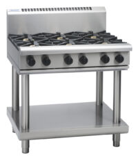 Waldorf RN8600G-LS 6 Burner Gas Cooktop - Leg Stand Model-0