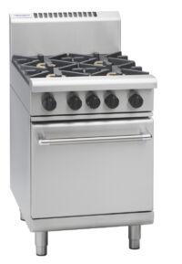 Waldorf RN8413G 2 burner gas range static oven with griddle plate-0