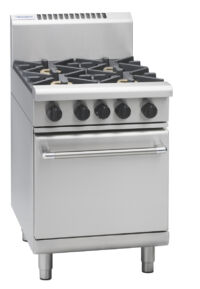 Waldorf RN8416G gas range static oven with griddle plate-0