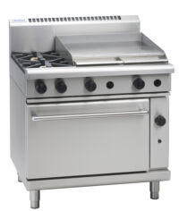 Waldorf RN8619G gas range static oven with griddle plate-0