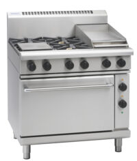 Waldorf RN8613GE Gas range 4 burner with griddle plate-0