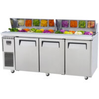 VIP Offer - SKIPIO 3-Door Prep Fridge with lid (SHR18-3)-0