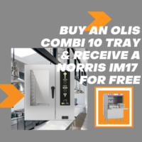 OLIS 10 tray combi with Norris IM17 glasswasher